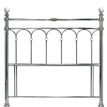 Krystal Antique Nickel Double Headboard